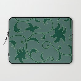 Tropical Leaves Climbing Plants Solid Colors Laptop Sleeve