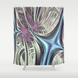 Cosmic Orchid - Fractal Art Shower Curtain