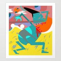desert Art Prints featuring Desert by SMLE™