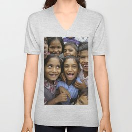 A project to improve the quality of life of people infected with or affected by HIVAIDS in Maharasht Unisex V-Neck