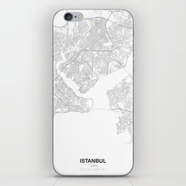 Istanbul, Turkey Minimalist Map iPhone Skin
