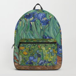 Vincent van Gogh - Irises (1889) Backpack