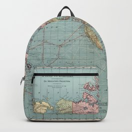 Vintage Map of The World (1912) Backpack