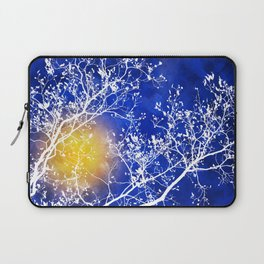 Blue Tree Abstract Laptop Sleeve