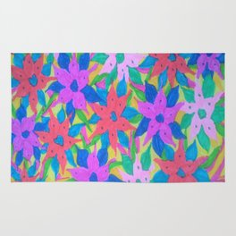 Tropical Rain Flowers Rug