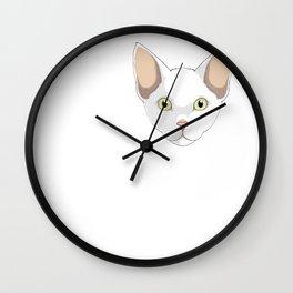 Love Cornish Rex Cat Kitty Lover Wall Clock