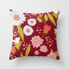 Fiori Rose Throw Pillow