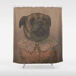 Vintage Sophisticated Dog Illustration (1878) Shower Curtain