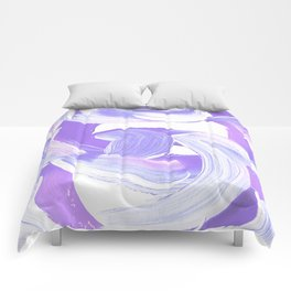 Shades of Purple Brush Stroke pattern #abstractart Comforters