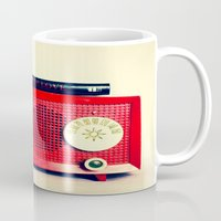 radio Mugs featuring Red Radio by Squint Photography
