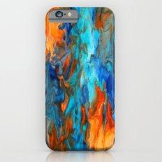 Orange and Teal iPhone 6s Slim Case