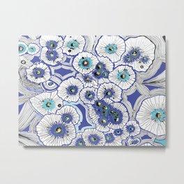 Drop Flowers Metal Print