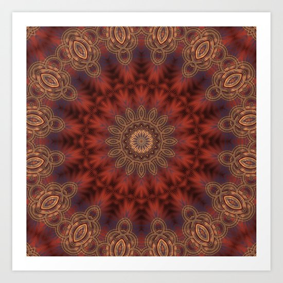 Christmas Night Mandala Art Print