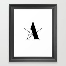 A-star Framed Art Print