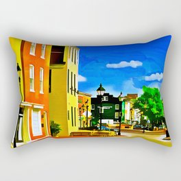 Fells Point Square, Baltimore, Maryland Rectangular Pillow