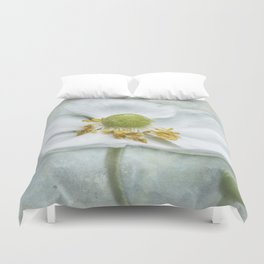 Anemone with Textured Background Duvet Cover