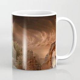 Desert paradise on the edge of Hell - Sandstorm Coffee Mug