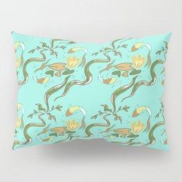 Koi Lilypad aqua Pillow Sham