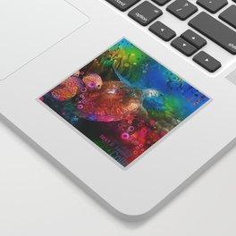 Sea Turtle In Living Color Sticker