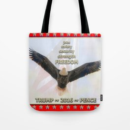 Trump Eagle Flies High In 2016  Tote Bag