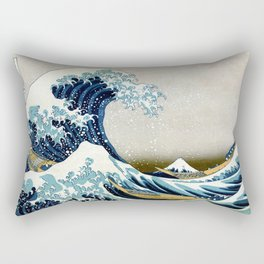 The great wave, famous Japanese artwork Rectangular Pillow