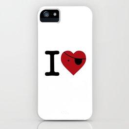 I love pirate love iPhone Case