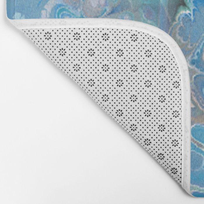 Fractal and Checkered Bath Mat