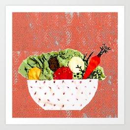 Spring bowl Art Print