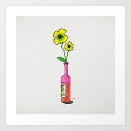 bottleflower Art Print