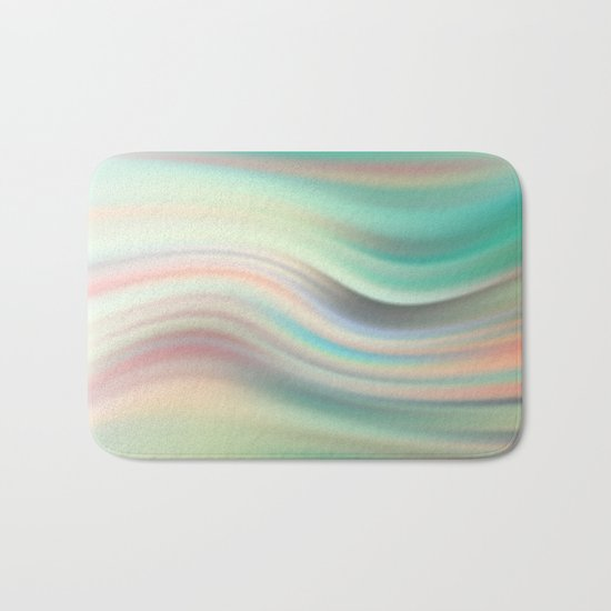 Green mist. Blurred background Bath Mat