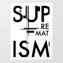 History of Art in Black and White. Suprematism Art Print