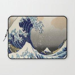seascape painting japanese ukiyo e art the great wave off kanagawa Laptop Sleeve