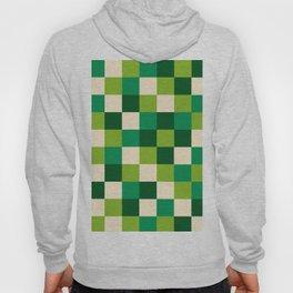 Minimalist Mid Century Retro Green Squares Hoody
