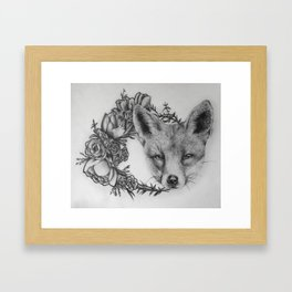 A fox in wild Framed Art Print