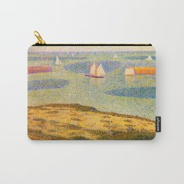 Port-en-Bessin Entrance to the Outer Harbor Georges Seurat - 1888 Impressionism Modern Populism Oil Carry-All Pouch