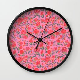 Floral beauty Wall Clock