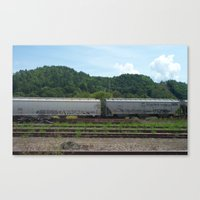 train Canvas Prints featuring TRAIN by JANUARY FROST