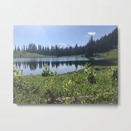 Mount Rainier from Tipsoo Lake Metal Print