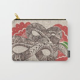 Goddess Snake  (snake and flowers on dictionary page) Carry-All Pouch