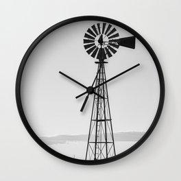 Windmill #blackandwhite Wall Clock