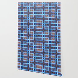 geometric ink blot and smudge ancient techno geek pattern Wallpaper