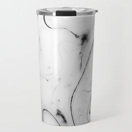 Elegant white marble image Travel Mug