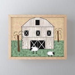 Primitive Barn Framed Mini Art Print