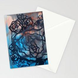 Brick and marine roses Stationery Cards