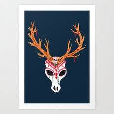 The Deer Head Skull   Art Print