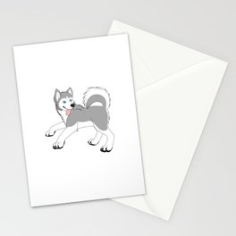 Husky (Silver and White) Stationery Cards