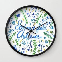 Soulmate Goals: Cheleanor Wall Clock
