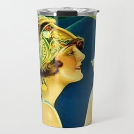 Vintage 1920's Calixtus Champagne Advertising Poster Travel Mug