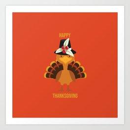 Happy Thanksgiving Art Print