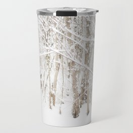 Snow on Alders Travel Mug